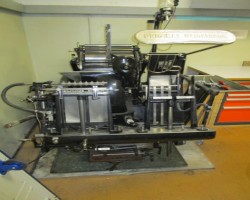 BOOK PRESS MACHINE HEIDELBERG TIEGEL A4 year 1952