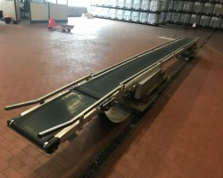 Belt conveyors, platform conveyors, conveyor belt 7 m Transnorm 1100 year 2007