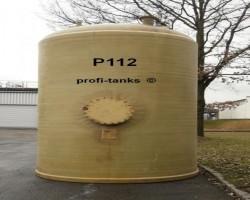 P112 polyester tank 20,000 L GRP-tank flat bottomufeed tank liquid manure tank