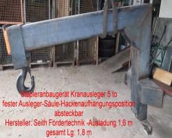 Forklift attachment crane booms  SEITH 60.30./578