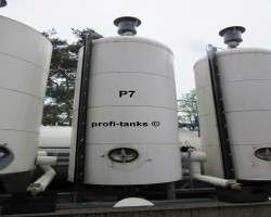 Stainless steel tanks P7 - 10,000L DOUBLE-WALLED insulated heating element glycerin