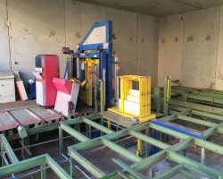Packetpress with conveyor FROMM/SPRINGER 19 mm Plastic band