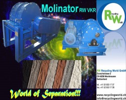 Ballshaping- and Delaminationmill RW RECYCLING WORLD GMBH RW VKR Molinator