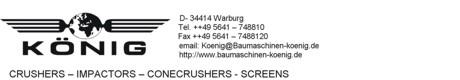 König Baumaschinen - King Crushers